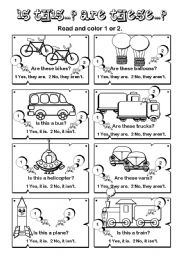 English Worksheet: Is this... Are these ? series (7/7)
