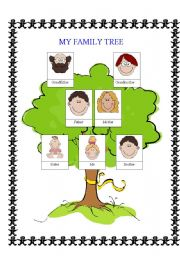 Vocabulary worksheets > Family > Family tree > simple family tree