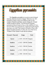 english worksheets egyptian pyramids. Black Bedroom Furniture Sets. Home Design Ideas