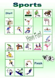 English Worksheet: board game - sports