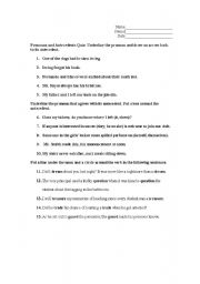 Printables Pronoun And Antecedent Worksheet english worksheets pronouns and antecedents quiz worksheet quiz