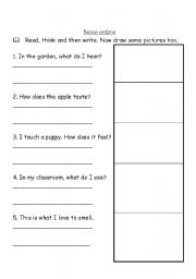 five sense worksheet new 989 five sense organs worksheets for grade 2. Black Bedroom Furniture Sets. Home Design Ideas