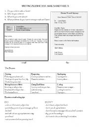 English Worksheet: Writing an e-mail