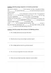 English Worksheet: Treasure Island Exercise