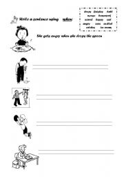 English Worksheets: using when