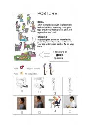 English Worksheets: Posture