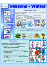 English Worksheet: SEASONS - WINTER (7 - 8)