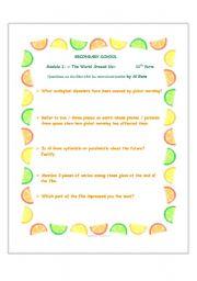 English Worksheet: WS on
