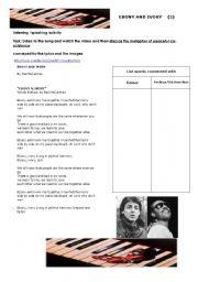 English Worksheet: Ebony Ivory (2)