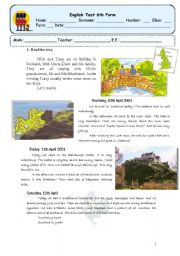 English Worksheet: test about scotland