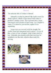 English Worksheets: Mansaf
