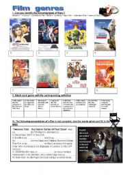 English Worksheet: FILM  GENRES