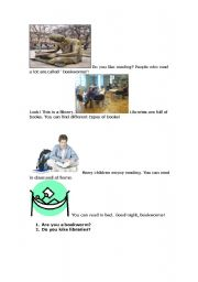 English Worksheets: bookworms