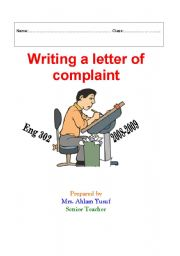 Writing a letter of complaint Guide