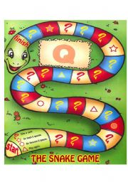 English Worksheet: THE SNAKE GAME