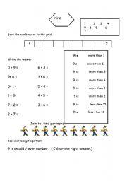 English Worksheets: Nine