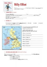 english teaching worksheets billy elliot english worksheets billy elliot