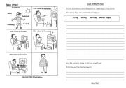 English Worksheets: Describing a picture.