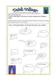 English worksheet: Celebrity collage