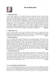English Worksheet: Me, the agony aunt - problem solving (3 pages)