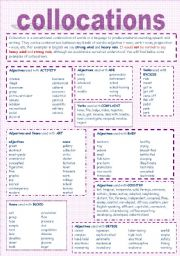English Worksheets Collocations Worksheets Page 2