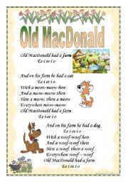 English Worksheets: Old MacDonald