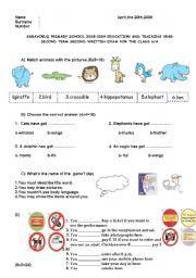English Worksheets: mixed exercise