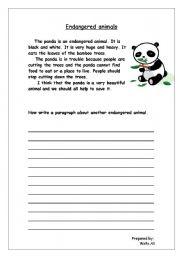Vocabulary worksheets > The animals > endangered animals