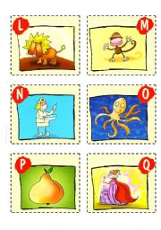 English Worksheets: ABC CARDS + GAMES - 2/3