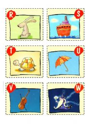 English Worksheets: ABC CARDS + GAMES - 3/3