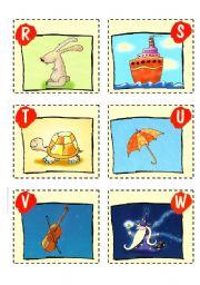 English Worksheet: ABC CARDS + GAMES - 3/3
