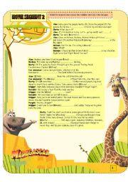 English Worksheets: MADAGASCAR MOVIE SEGMENT 2 -1/2- DUE TO SIZE.