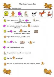 English Worksheet: The Gingerbread Man: An Easy Role-play