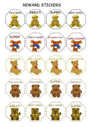 English Worksheet: REWARD STICKERS (3)