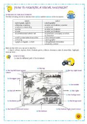 English Worksheets: How to describe a visual document