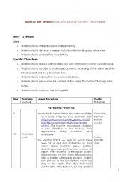 english teaching worksheets poems. Black Bedroom Furniture Sets. Home Design Ideas