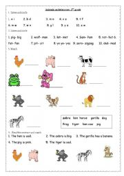 English teaching worksheets 2nd grade
