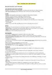 English Worksheet: First Certificate Writing