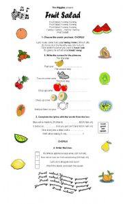 is olive a fruit fruit salad song