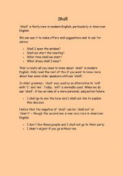 English Worksheets: shall