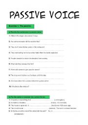English teaching worksheets: Passive voice