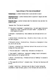 Worksheets Identifying Irony Worksheet english teaching worksheets irony in