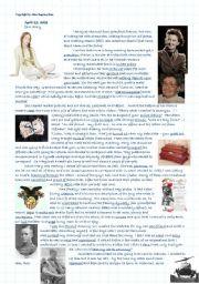 English Worksheet: Rachel�s Diary - secrets locked with seven seals