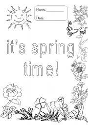 english worksheet it s spring time. Black Bedroom Furniture Sets. Home Design Ideas