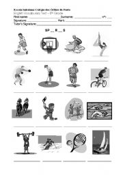 English Worksheet: Sports vocabulary test