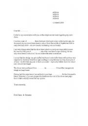 Seivo image sample complaint letter to landlord for Complaint letter to landlord template