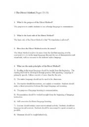 English Worksheets: a method