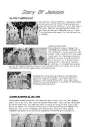 English Worksheets: Jainism
