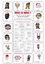 English Worksheets: description game