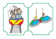 English Worksheet: Funfair flashcard and activities set - part 1
